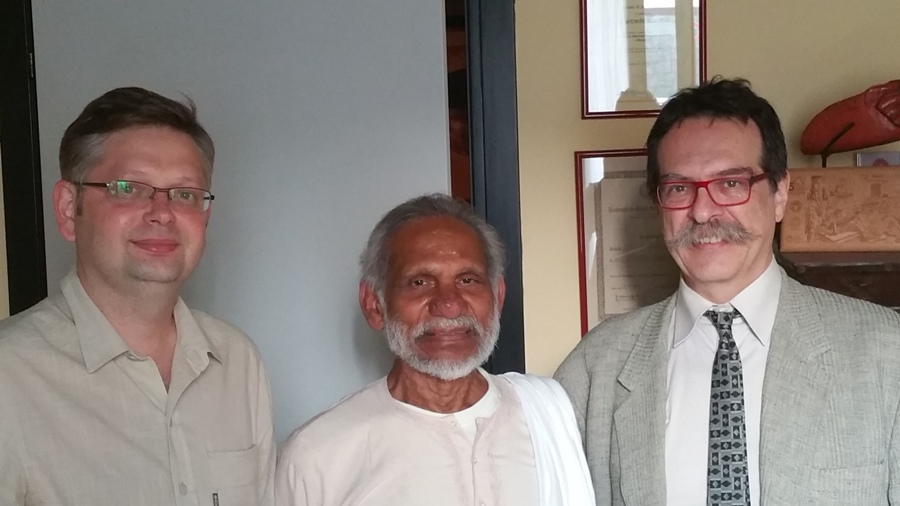 Dr. Oleg Sorokinс with Dr. Antonio Morandi and his spiritual advisor Mr. Swami Joythimayananda